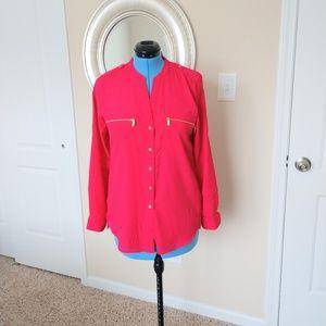 Calvin Klein Long Sleeve Tunic Top Size M